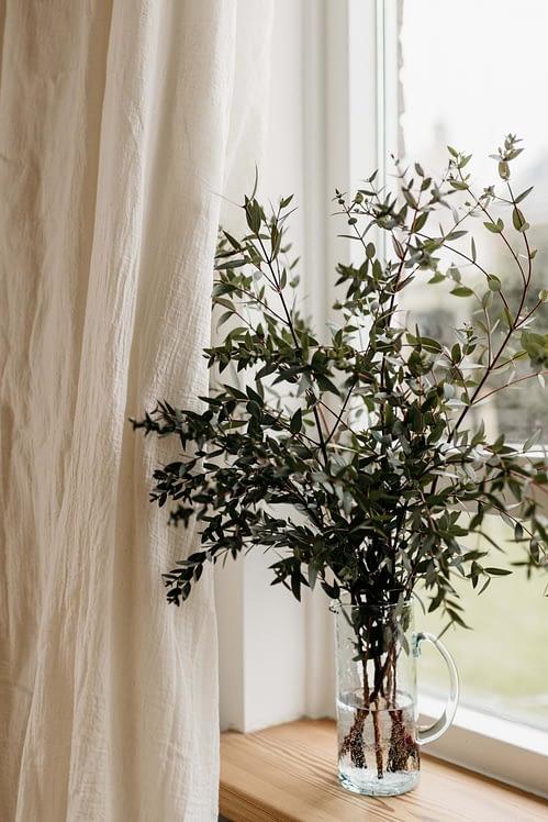 Katoenen gordijnen oatmeal_eucalyptus
