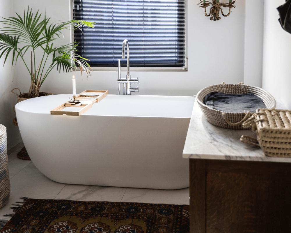 losstaande ronde badkuip badkamer