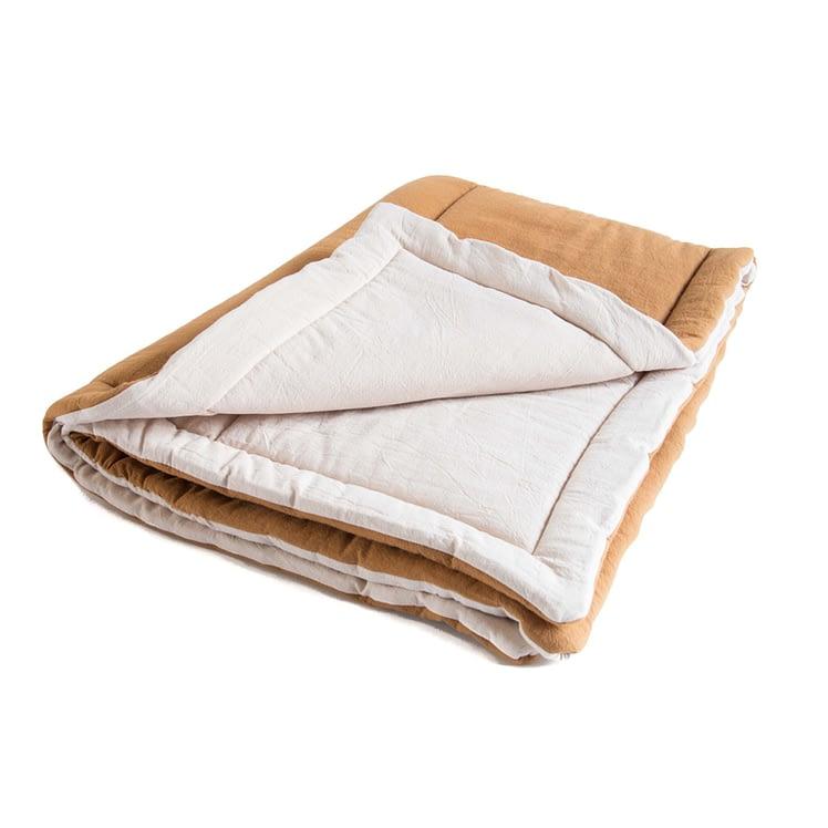 Speelkleed gewassen katoen okergoud-ecru_packshot