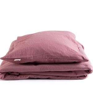 Peuter dekbedset gewassen katoen klei-roze