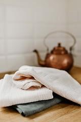Hydrofiele handdoek small kokoswit (set van 2)